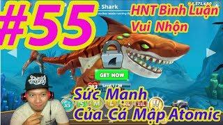 trò chơi cá mập ăn thịt người cá lớn nuốt cá bé HNT chơi game #5 hungry shark evolution game new 55