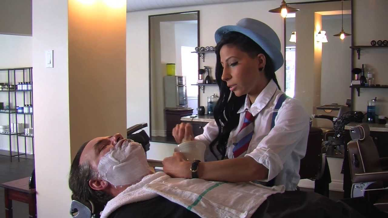 Barber Youtube : Straight Razor Shave Video - YouTube