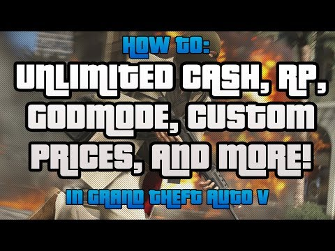 GTA Online | How to get Unlimited Cash/RP/Godmode/Custom Prices in ONLINE!