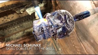 Glass artist Michael Schunke creates a Skull Goblet Pt. 1 - The Skull