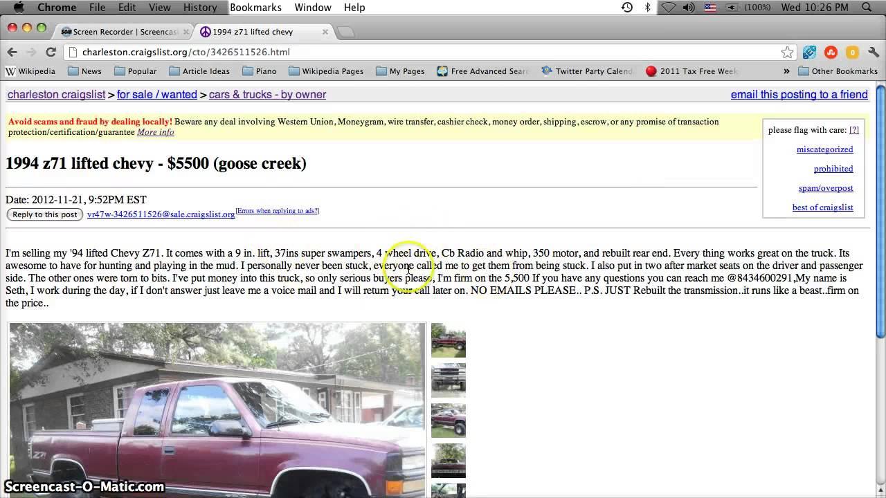 Craigslist Charleston SC Used Cars and Trucks - For Sale