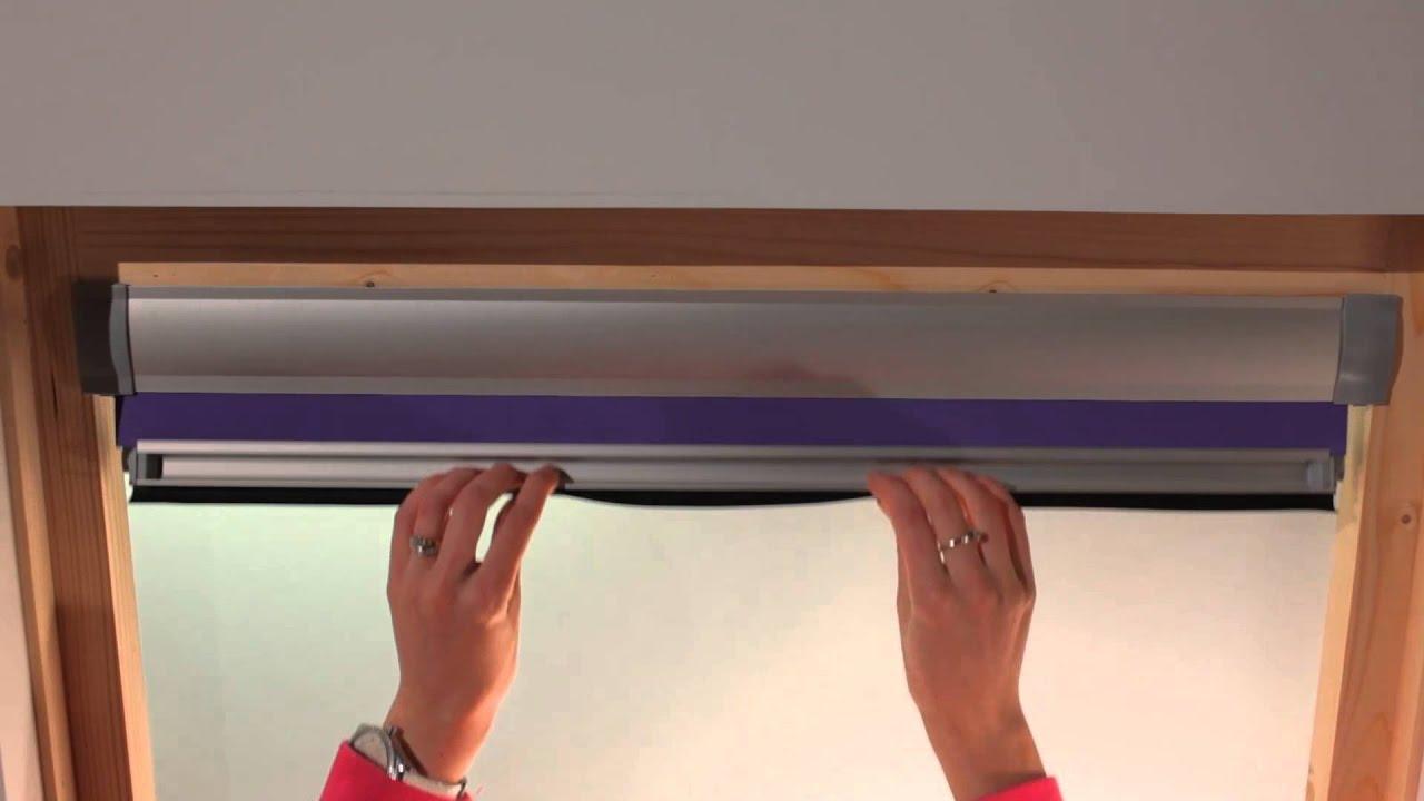 intstallation de votre store fenetre de toit youtube. Black Bedroom Furniture Sets. Home Design Ideas