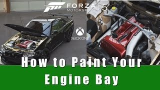 How To Paint Your Engine Bay Forza Motorsport 5