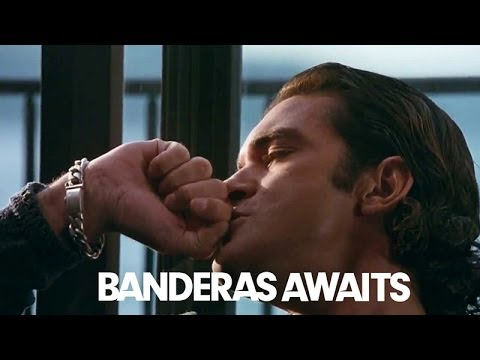 Antonio Banderas' Laptop Reaction