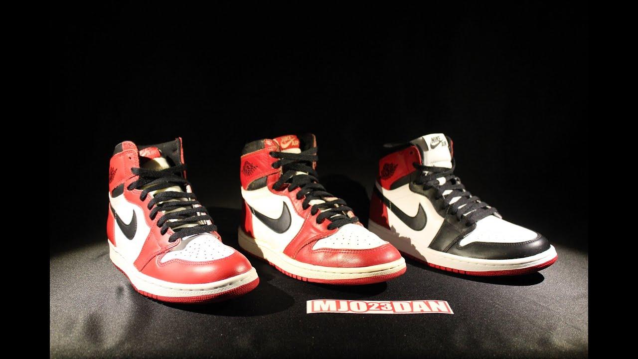 1985 Original Air Jordan 1 Wht Blk Red Part 2 Of 2 Youtube