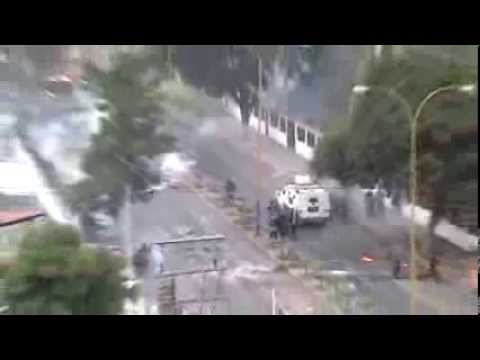 Second day of repression on protesters in Valera, Venezuela.