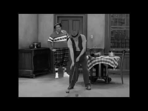 Hello, ball!   Honeymooners Golf Scene