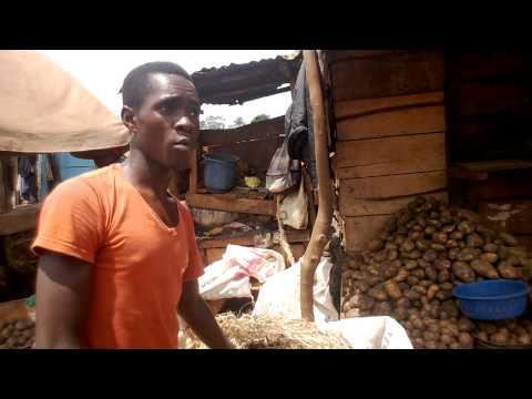 Irish Potato Vendoring in Mukono Market