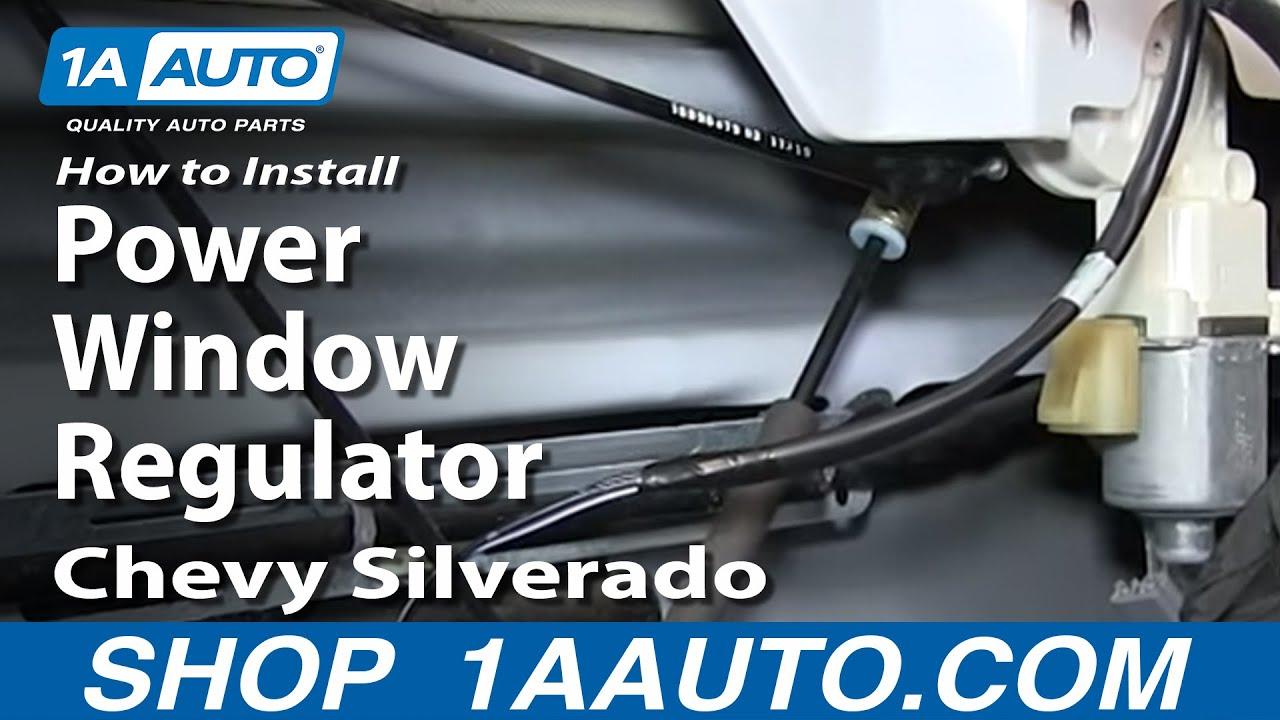 How to install replace power window regulator 2007 2013 for 2003 silverado power window motor