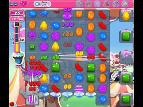 How to beat Candy Crush Saga Level 178 - 2 Stars - No Boosters - 96