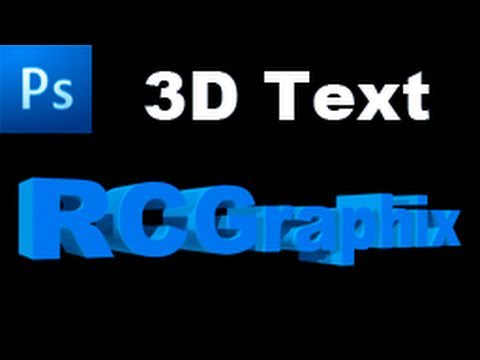 Photoshop Tutorial: Create a 3D Text Effect Using CS5 3D Features  -HD