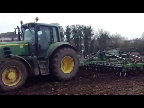 Ploughing,spreading fertiliser,pressing and sowing with Pat Moran and son agri contractors.