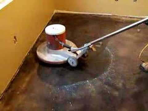 Kemiko concrete floors being waxed youtube for How to remove wax from stained concrete floors