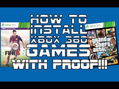 How To Install Xbox 360 Full Games Non Jtag With Proof!!!!