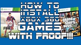 How To Install Xbox 360 Full Games Non Jtag With Proof