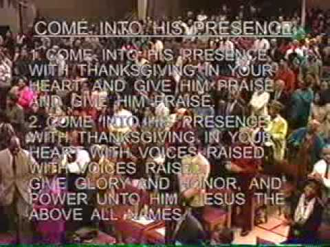 Come Into His Presence Chords - worshipchords.com
