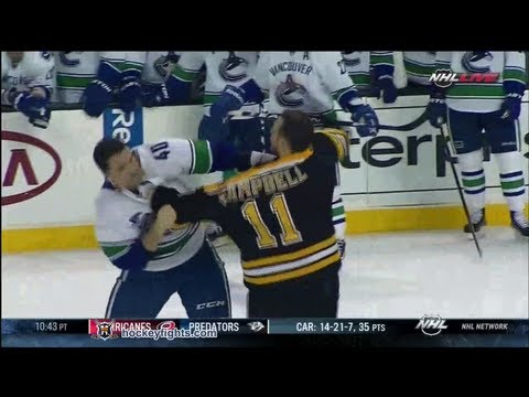 Maxim Lapierre vs Gregory Campbell Jan 7, 2012