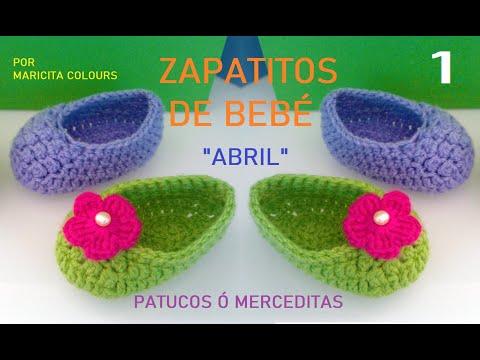 Crochet Tutorial Zapatitos Escarpines