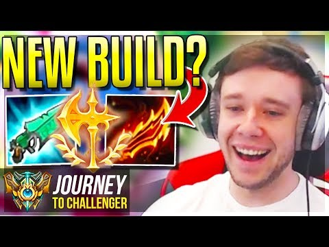 DID I JUST DISCOVER A NEW BUILD???? OR AM I TROLLIN? - Journey To Challenger | League of Legends