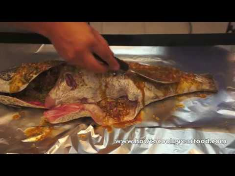 Whole hammour cod fish marination oven baked recipe how to for How to cook cod fish
