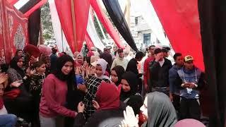 أجواء احتفالية أمام لجنة نهضة مصر بشبرا