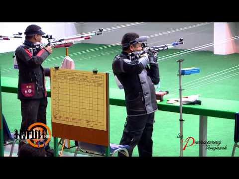 กีฬาแห่งชาติ สุพรรณบุรีเกมส์ ยิงปืน ประเภท ปืนยาวอัดลม 10 เมตร 05 01 56 LOGO มติชน TV