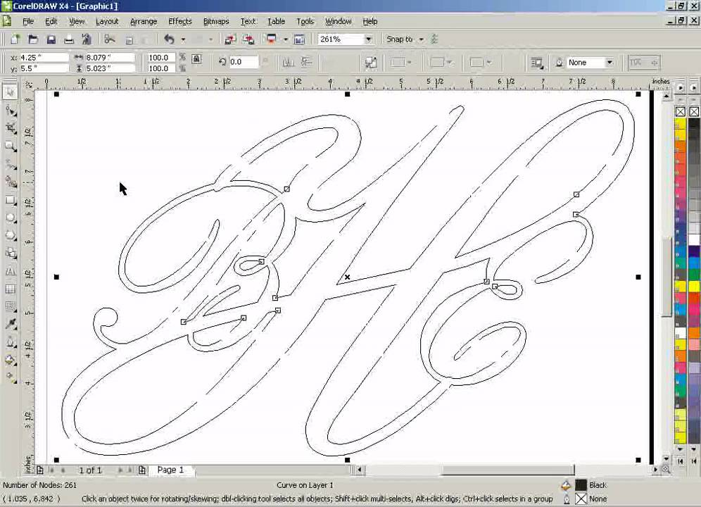 Line Art Coreldraw Tutorial : Corel draw clean up lines after welding youtube