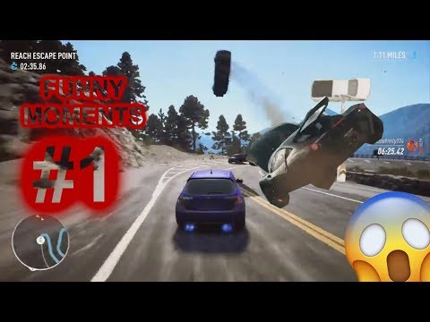RACING GAMES FUNNY MOMENTS, FAILS COMPILATION #1   PRELUD