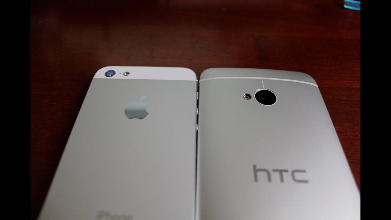 HTC One (M7) vs... Htc One Vs Iphone 5 White