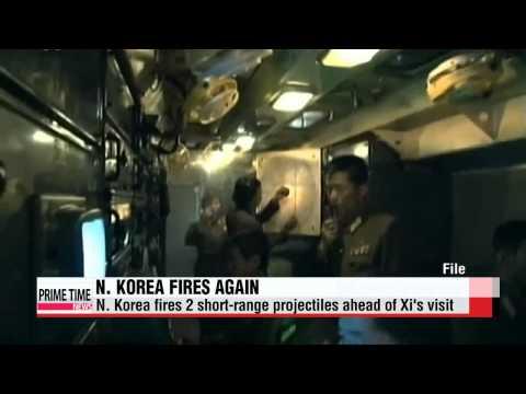 N. Korea fires two short-range projectiles ahead of Xi Jinping's S. Korea trip