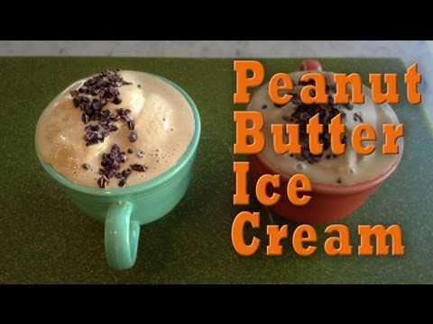 Peanut Butter Ice Cream: Organic Vegan Dessert Recipe