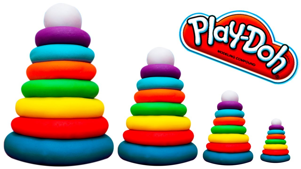 baby rainbow pyramid play doh how to make pyramid with playdough color pyramid for kids play. Black Bedroom Furniture Sets. Home Design Ideas