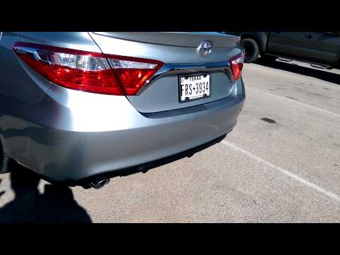 2015 toyota camry before and after factory exhaust phim. Black Bedroom Furniture Sets. Home Design Ideas