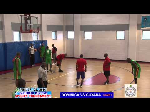 BASKET BALL DOMINICA VS GUYANA GAME 2