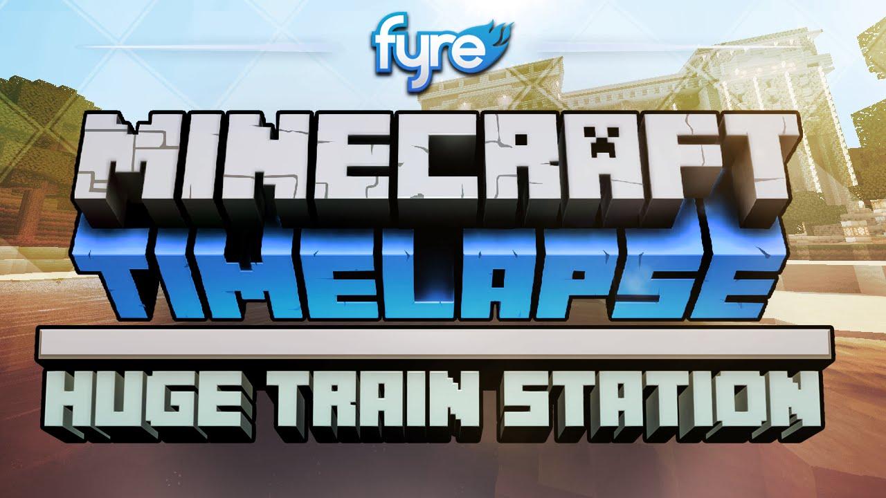 Скриншот для файла: Minecraft Timelapse - Эпичный Ж/Д Вокзал
