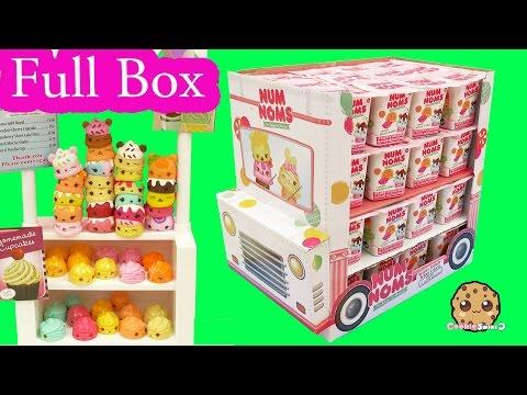 Full Ice Cream Truck Box of 48 Num Noms Surprise Blind Bag Cups - Cookieswirlc Video