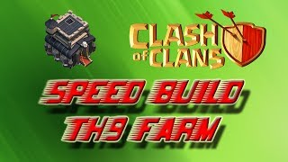 SPEED BUILD VILLAGE HDV 9 FARM SPEED BUILD TH9 BASE FARM