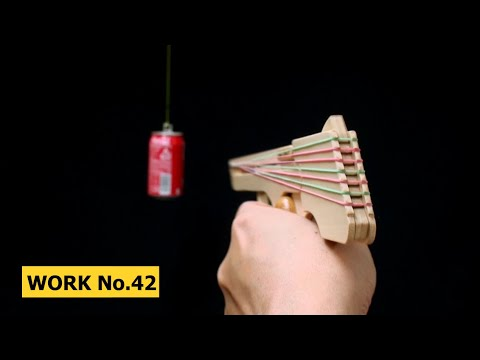 Nicked Ramp-Releaser, 8 rounds Rubber Band Hand Gun/ OGG CRAFT