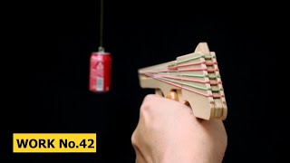 Nicked Ramp-Releaser, 8 Rounds Rubber Band Hand Gun