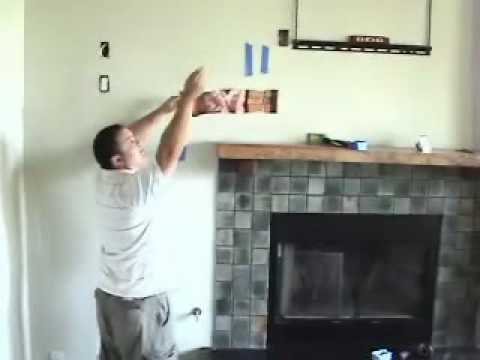 Install Tv Above Fireplace Pt 7 Install Cables Youtube