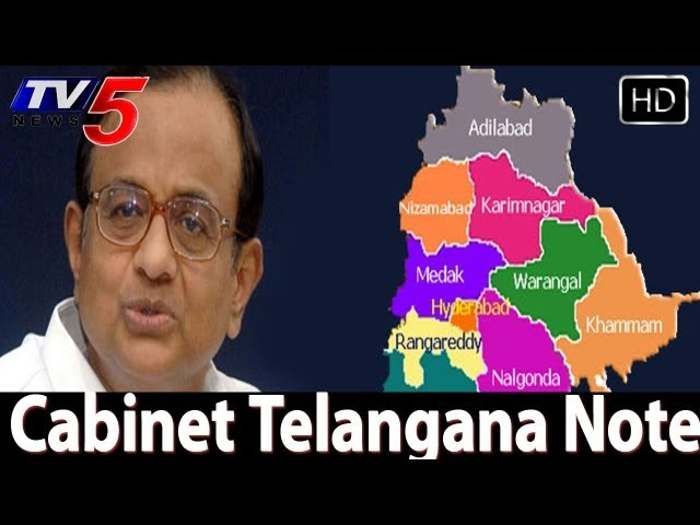 Cabinet note being prepared for Telangana  - TV5