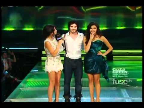 Justin Bieber,Selena Gomez, Nina Dobrev and Ian Somerhalder at the 2011 Mmva