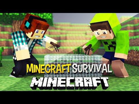 Minecraft Survival Ep.123 - Estudando Insetos e Formigário !!