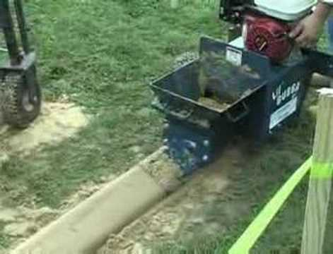 concrete garden edging machine