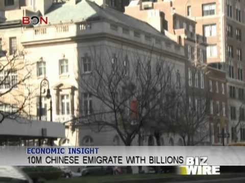10M Chinese emigrate with billions - Biz Wire - January 24,2013 - BONTV China