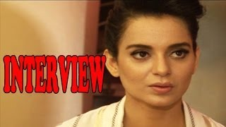 Sexy Doll Kangana Ranaut Hot Interview For Krrish-3 & Rajjo