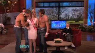 Ellen Throws a Bachelorette Party for Kellie Pickler!