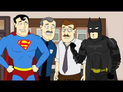 The Dark Knight Meets Superman, Batman faces his toughest adversary yet: real super powers. See our videos a month earlier at http://www.collegehumor.com and follow us on http://www.twitter...