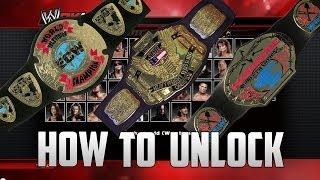 WWE 2K14 How To Unlock : ECW TV TITLE, WCW US TITLE AND