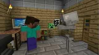The Friendly Skeleton A Minecraft Machinima